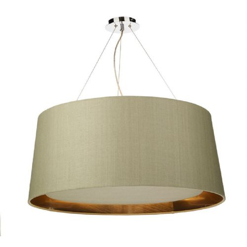 Hastings 80cm Pendant Light Chrome with Shade (choose colour) HAS80 (Hand made, 10-14 day Del)